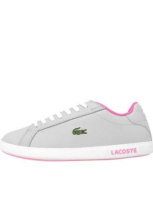 Кроссовки lacoste graduate 118 1 grey pink