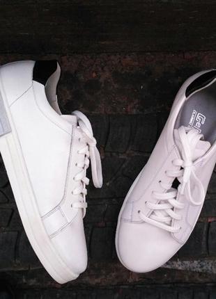 Кеды, кроссовки, белые, натуральная кожа
