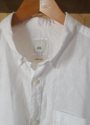Эксклюзивная льняная  рубашка river island