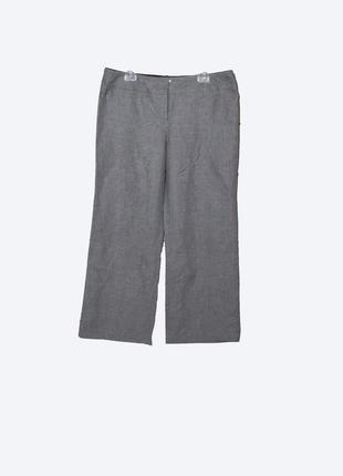Стильные серые брюки/штаны на весну-лето uk16