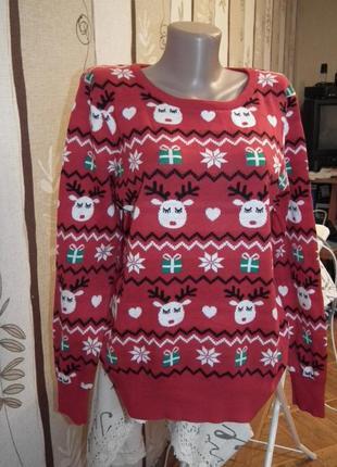 Идеальный новогодний свитерок peacocks,р.16,100% котон