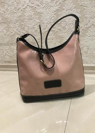 Стильная сумка, dooney & bourne, натуральная кожа