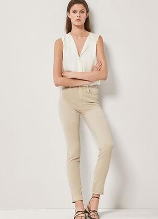 Пудровые джинсы скинни massimo dutti брюки хлопок