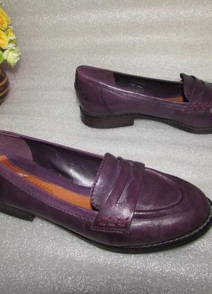 Туфли лоферы полностью кожа ~clarks ~ р 37