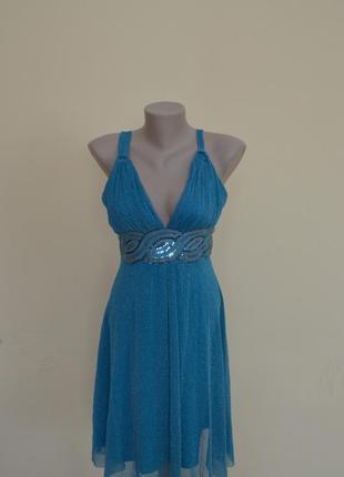 Красивое нарядное платье с люрексом