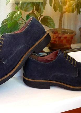 """Очень мягкие замшевые туфли """" marks & spencer, blue harbour"""", англия, 43 р."""