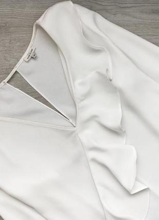 Невероятная блуза/блузка с оборкой 3xl молочного цвета river island2 фото