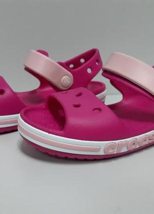 Босоножки детские  на девочку bayaband крокс розовые оригинал не реплика