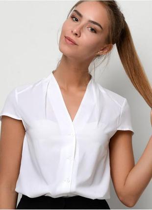 Блуза рубашка белая летняя one новая