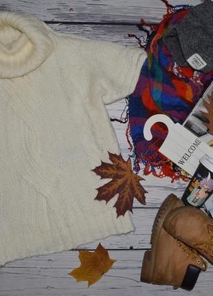 S-l женский фирменный свитер джемпер накидка с горловиной крупной вязки benetton