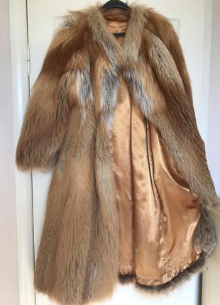 Шуба скандинавская длинноворсная лиса