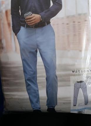 Фирменные мужские chino брюки от watsons германия. качество шикарное!1 фото