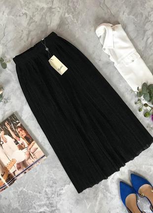 Красивая юбка плиссе с искринкой  ki1914008  yumi