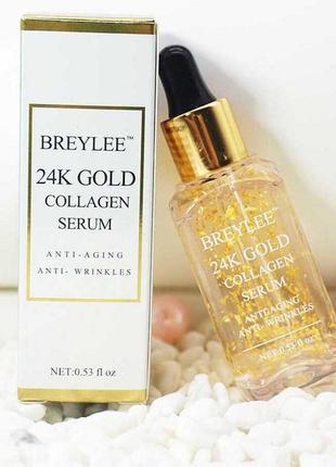 Омолаживающая эссенция для лица breylee 24k gold serum collagen essence