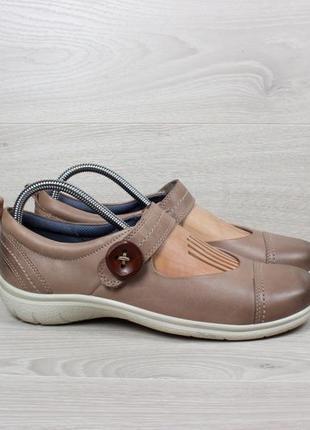 Кожаные женские туфли ecco оригинал, размер 40 - 41