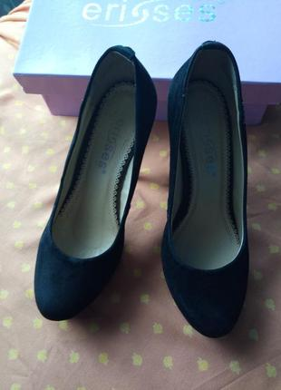 Туфли чёрные замшевые для золушки