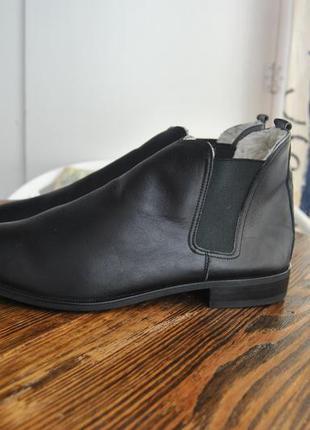 Кожаные ботинки челси /шкіряні черевики