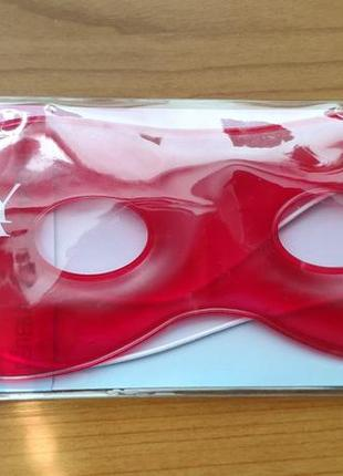 Гелевая маска для глаз для лица may face cold&hot 2 in1 красная