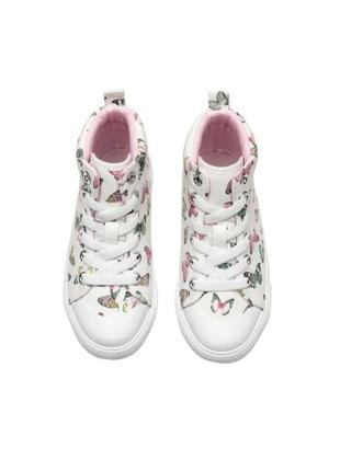 Новые кеды кроссовки с бабочками белые