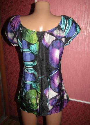 Шелковая блуза р-р 36 бренд custo barselona