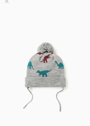 Фирменная шапка, шапочка для мальчика zara, размер 2-4 года, 49-51 см