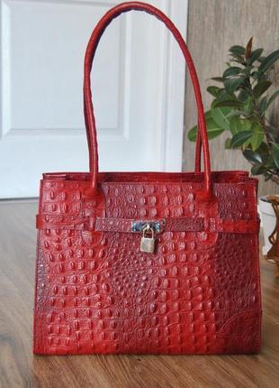 Кожаная деловая сумка borse in pelle / шкіряна сумка