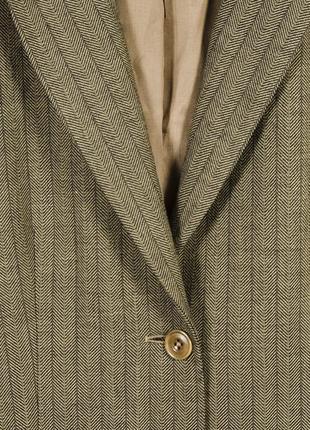 Коричневый пиджак длинный, удлиненный пиджак оверсайз, женский пиджак в полоскуoversize4 фото