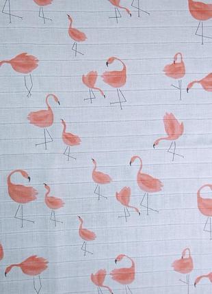 Муслиновая пеленка + 2 салфетки6 фото