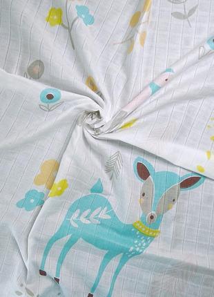 Муслиновая пеленка + 2 салфетки4 фото