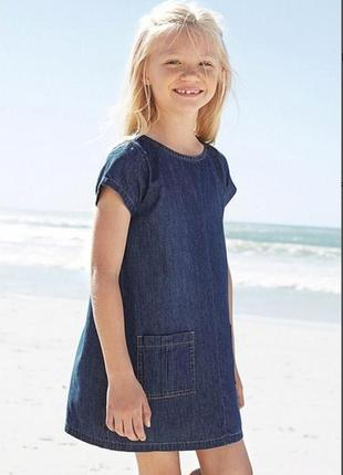 2-3 года, платье котоновое next.1 фото