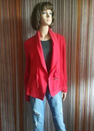 """Ярко красный трикотажный пиджак """"sandwich"""""""