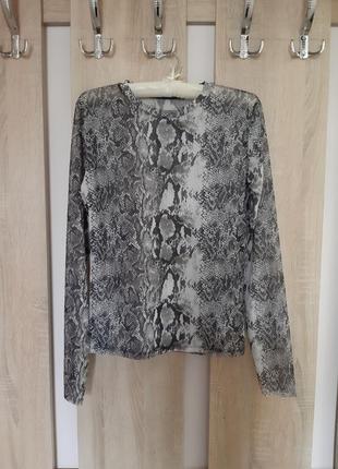 Кофта женская в змеиный принт. кофта жіноча. блуза. блузка