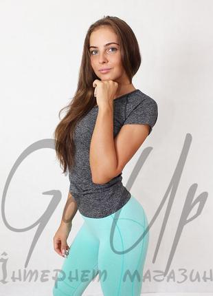Женская спортивная футболка для фитнеса, йоги, бега, одежда в спортзал. код:210106