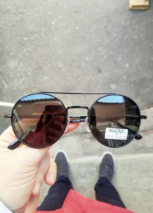 Новые фирменные круглые очки matrix polarized4 фото