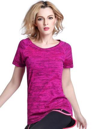 Женская спортивная футболка для фитнеса, йоги, бега, одежда в спортзал. код:210202