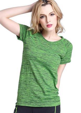 Женская спортивная футболка для фитнеса, йоги, бега, одежда в спортзал. код:210204