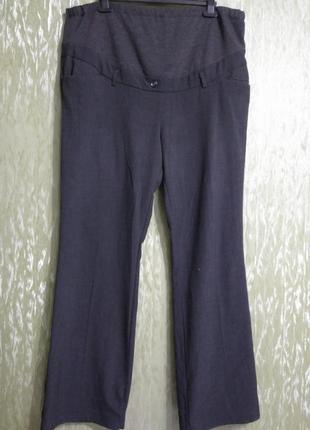 Широкие, классические, стрейчевые брюки- штаны для беременных, большого размера/ 56- 60
