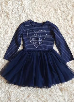 Шикарное платье с пышной юбкой mothercare