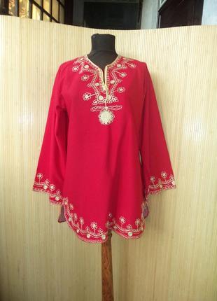 Блуза вышиванка трикотаж в этно стиле