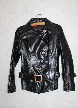Куртка косуха натуральная глянцевая кожа