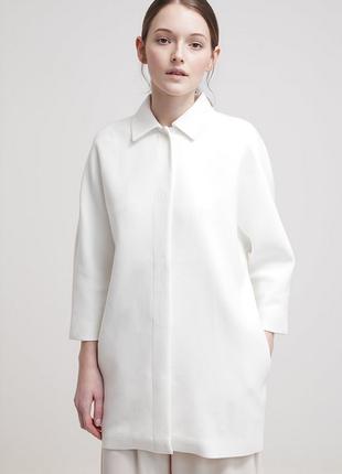 Новое пальто kiomi кокон оверсайз белое жакет летнее пальто пиджак
