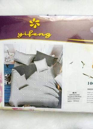 Набор постельного белья черно-белый 100% хлопок5 фото
