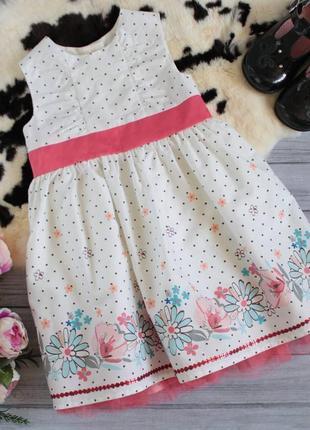 Классное платье в цветочный принт