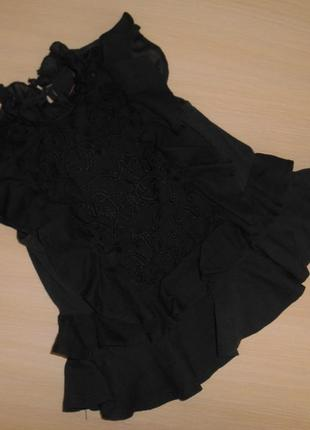 Нарядная туника, блузка, блуза с вышивкой next, 5 лет, 110 см, оригинал