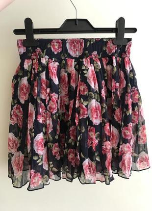 Красивая плиссированная юбка forever 21