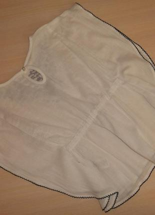 Нарядная белая блузка блуза туника nutmeg 4-5  лет, 104-110 см, оригинал2 фото