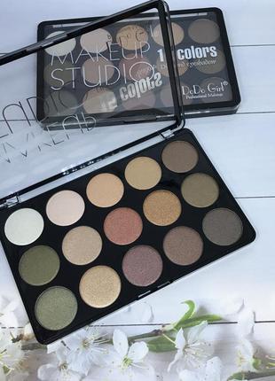 Тени для глаз dodo girl professional makeup 15 оттенков  к. 31223 фото