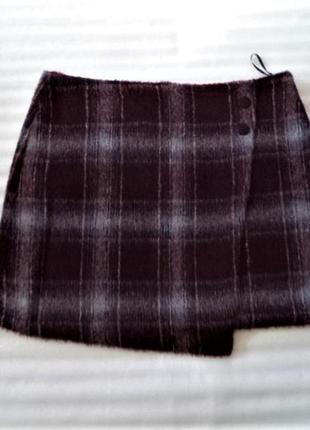 Очень теплая мини юбка