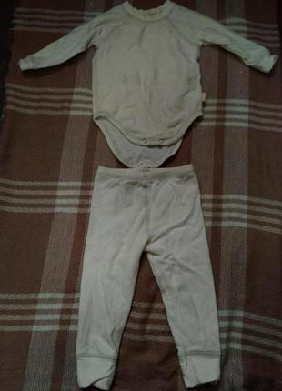 Костюм мальчику боди и штанишки на рост 74/80см