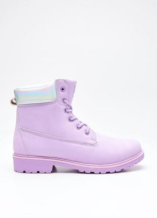 Фиолетовые ботинки cropp town под тимберленды сиреные ботинки весна низкий ход